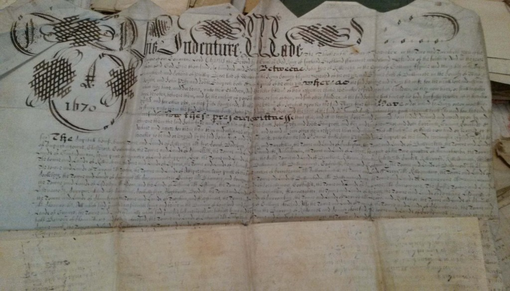 John Eyre settlement dated 1670