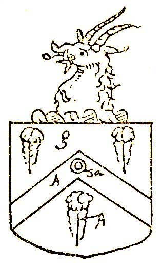 arms of Alexander Fetherston Rector of Wallesey in Wyrhall